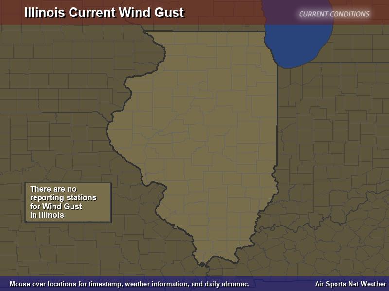 Illinois Wind Gust Map