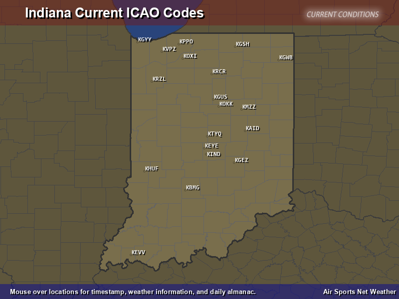 Indiana ICAO Map