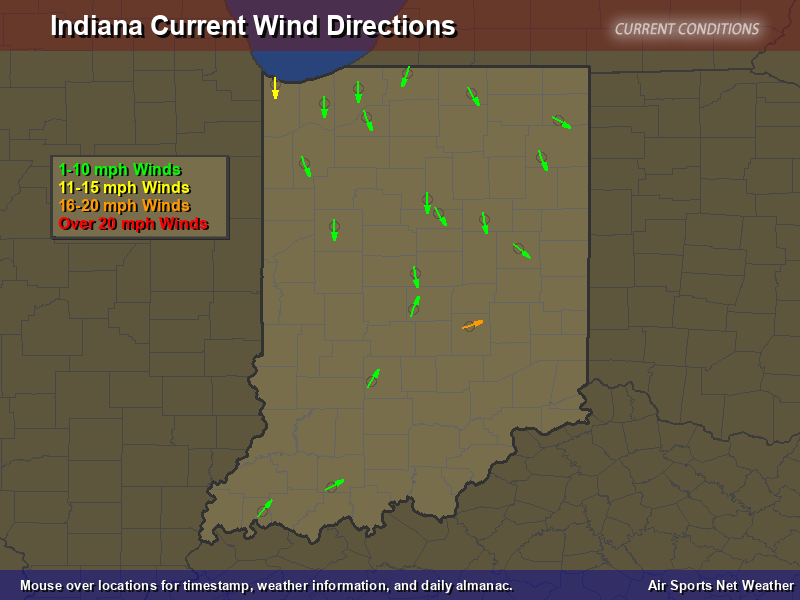 Indiana Wind Direction Map - Air Sports Net on