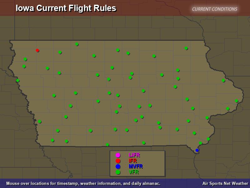 Iowa Flight Rules Map