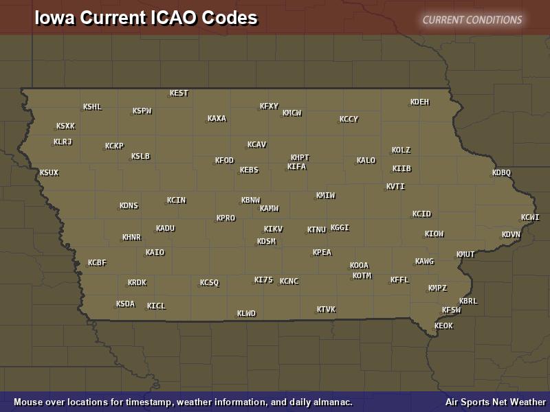 Iowa ICAO Map