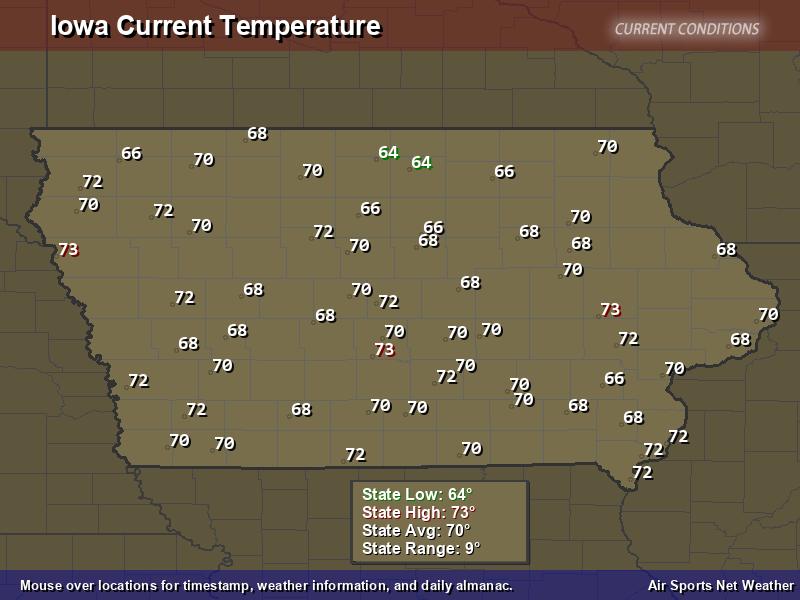 Iowa Temperature Map Air Sports Net
