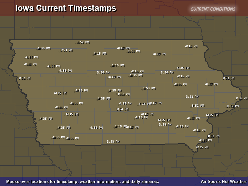 Iowa Timestamp Map