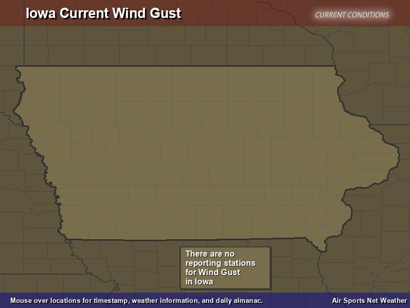 Iowa Wind Gust Map