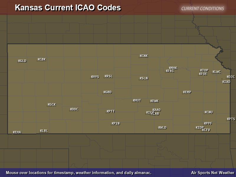 Kansas ICAO Map