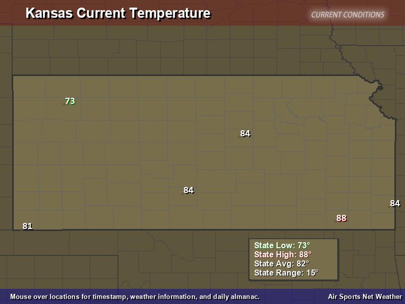 Kansas Temperature Map