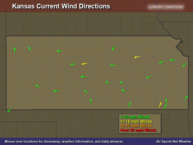 Kansas Wind Direction Map Air Sports Net