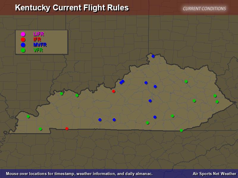 Kentucky Flight Rules Map