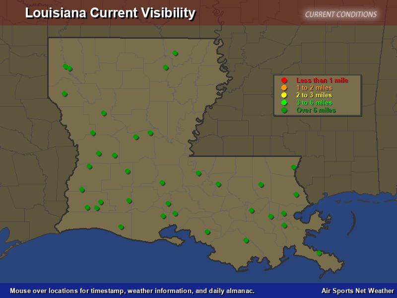 Louisiana Visibility Map