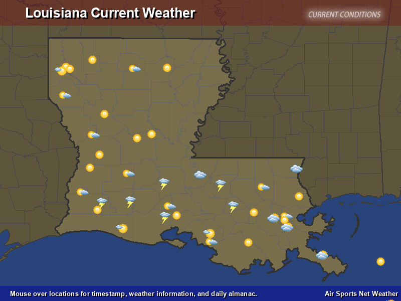 Weather Map For Louisiana.Louisiana Weather Map Air Sports Net