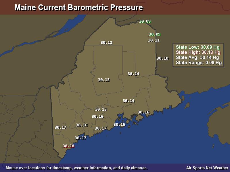 Maine Barometric Pressure Map Air Sports Net