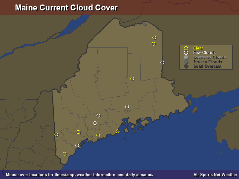 Maine Cloud Cover Map