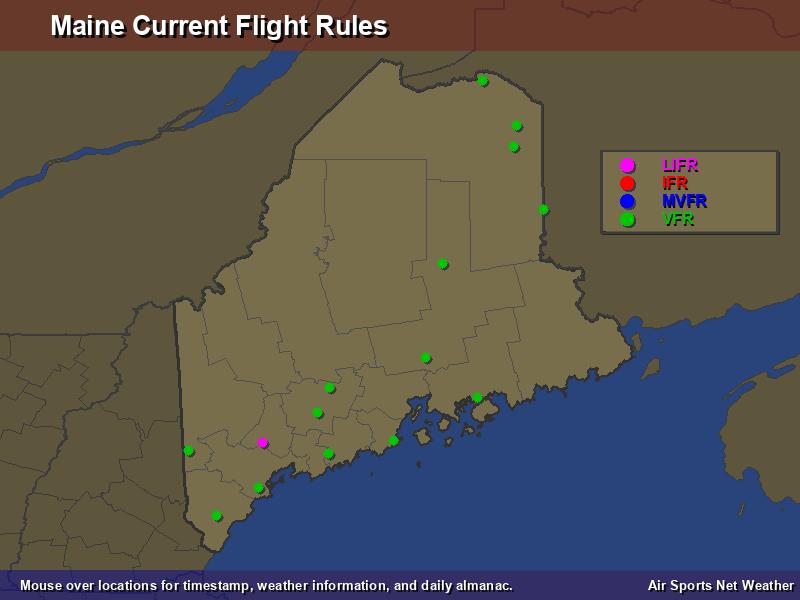 Maine Flight Rules Map