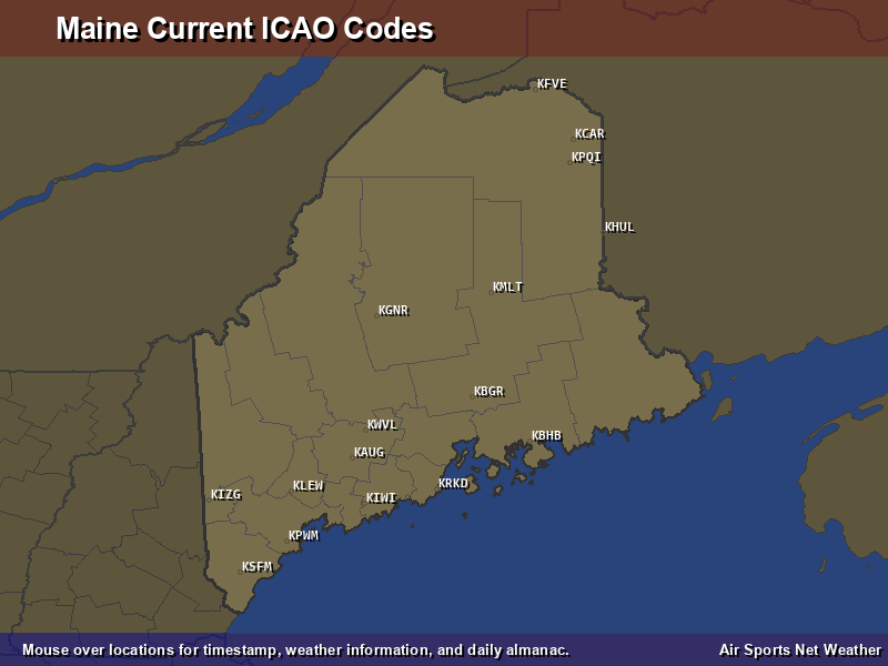 Maine ICAO Map