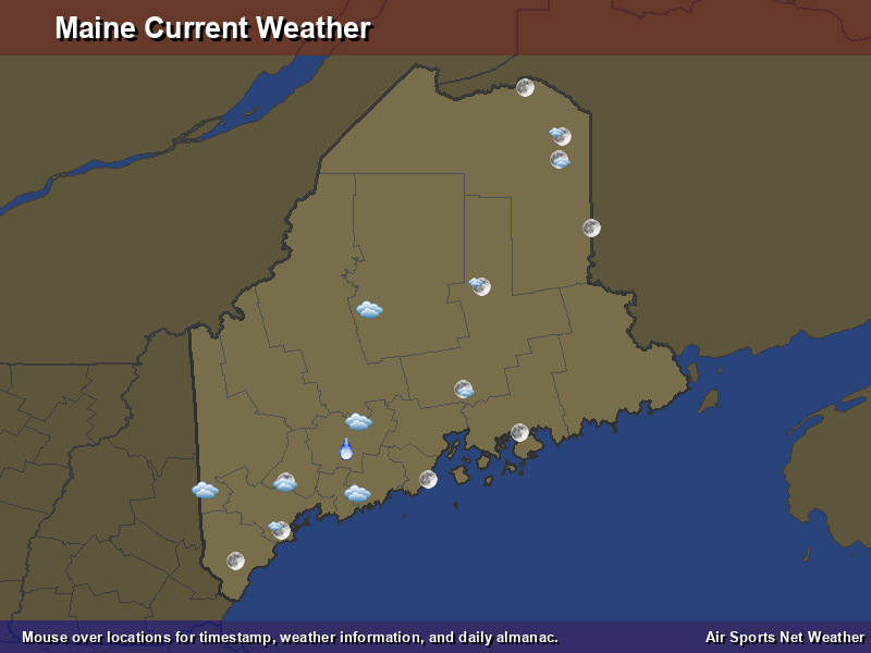 Maine Weather Map