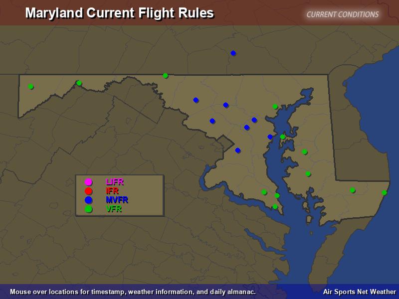 Maryland Flight Rules Map