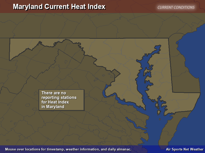 Maryland Heat Index Map