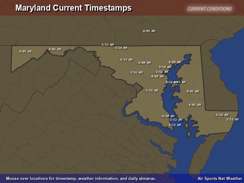 Maryland Timestamp Map