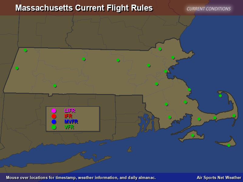 Massachusetts Flight Rules Map