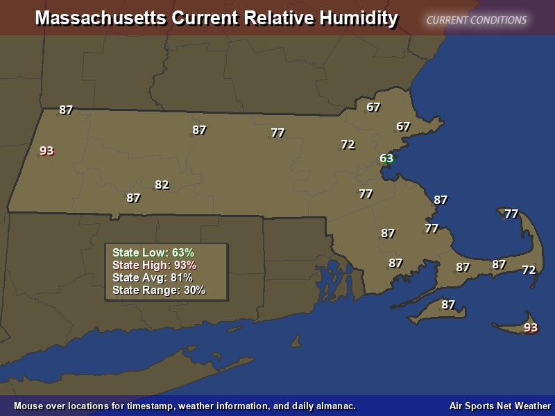 Massachusetts Relative Humidity Map Air Sports Net