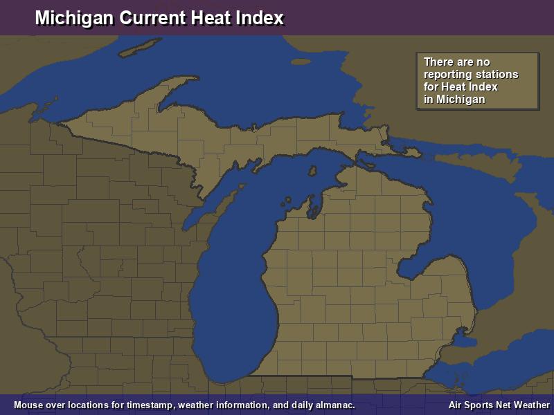 Michigan Heat Index Map