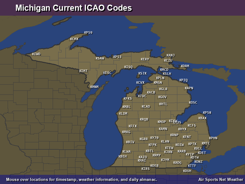 Michigan ICAO Map