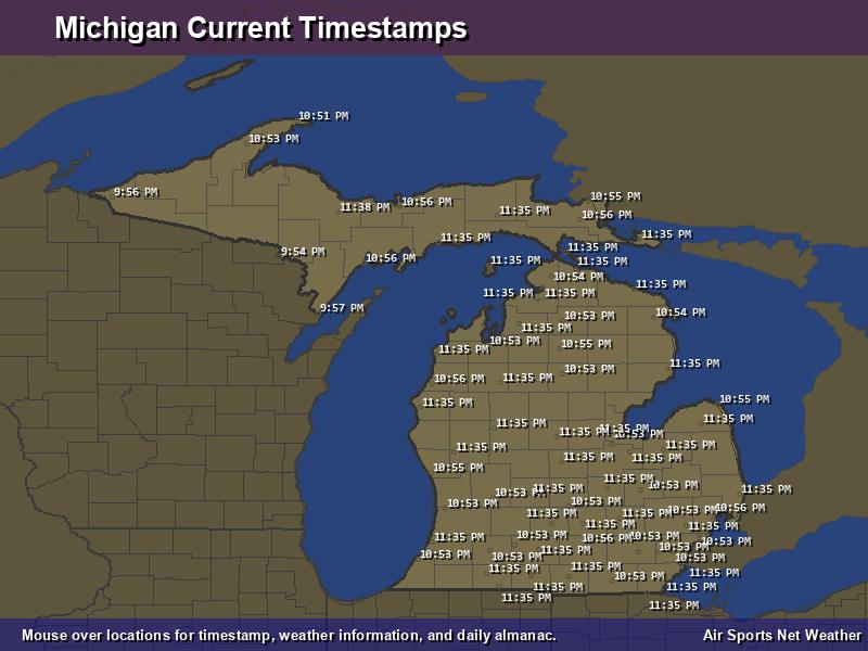 Michigan Timestamp Map