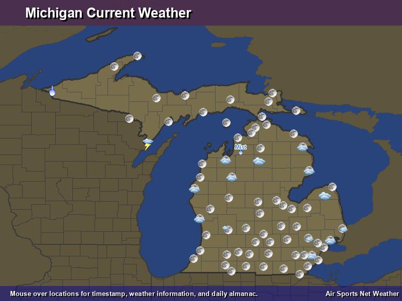 Michigan Weather Map