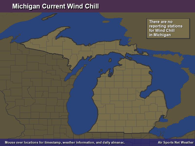 Michigan Wind Chill Map