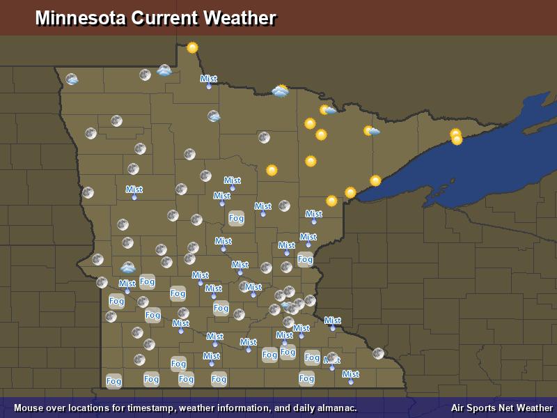 Minnesota Weather Map