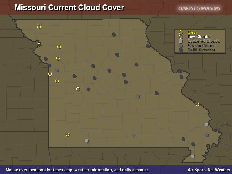 Missouri Cloud Cover Map