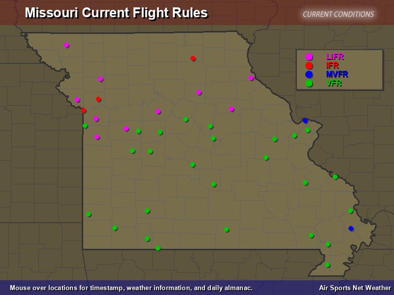 Missouri Flight Rules Map