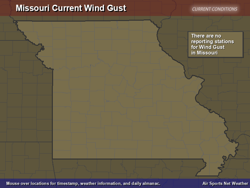 Missouri Wind Gust Map