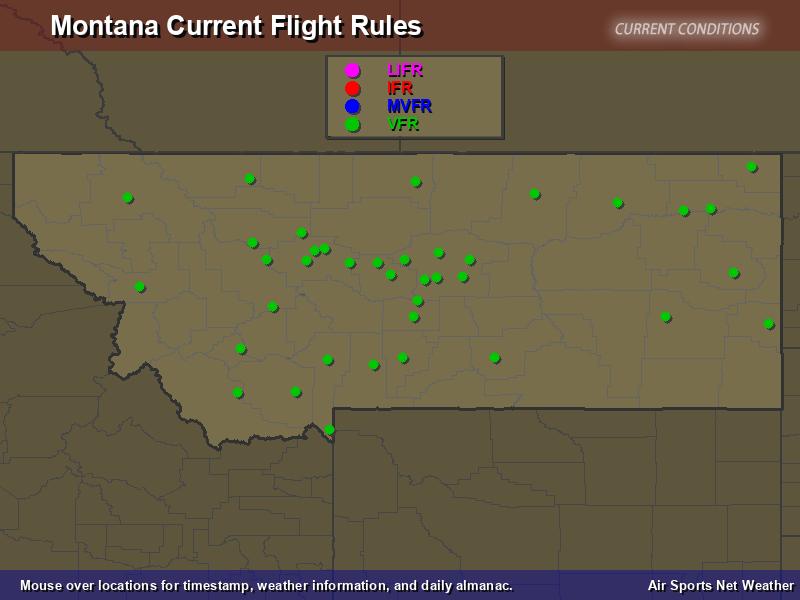 Montana Flight Rules Map