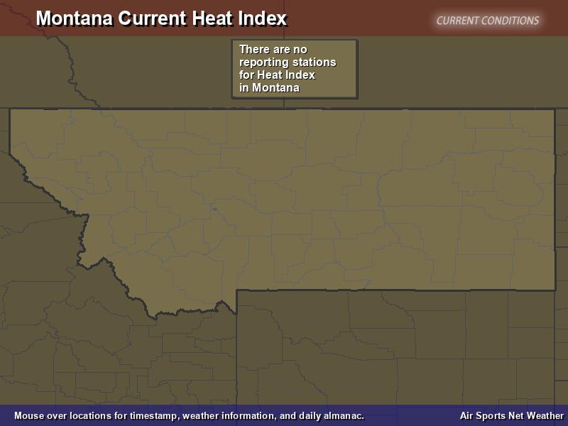 Montana Heat Index Map