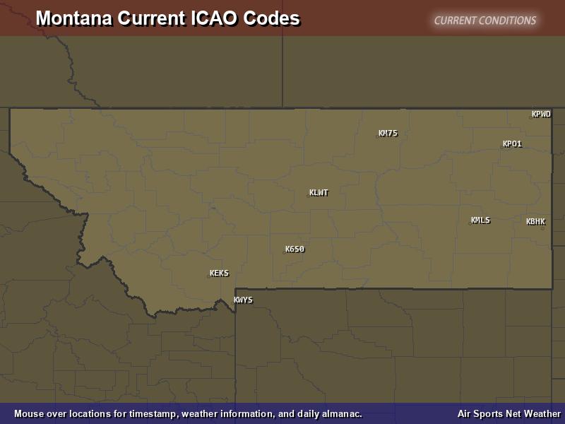 Montana ICAO Map