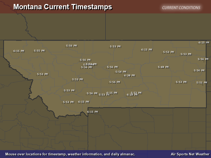 Montana Timestamp Map