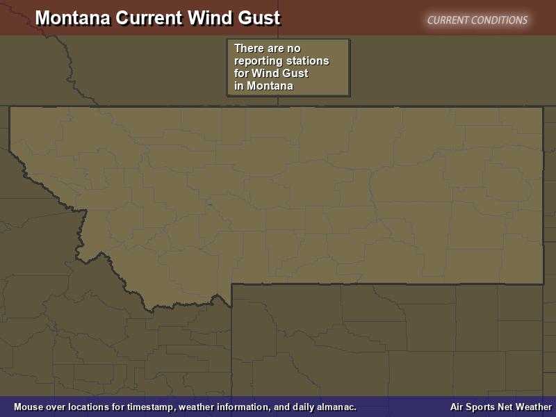 Montana Wind Gust Map