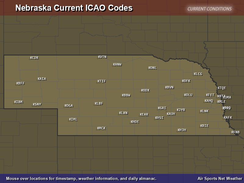 Nebraska ICAO Map