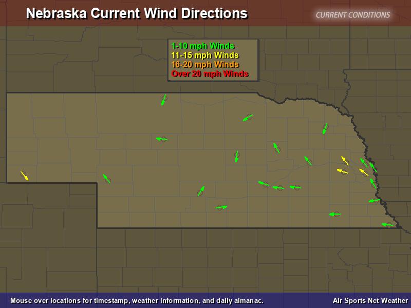 Nebraska Wind Direction Map