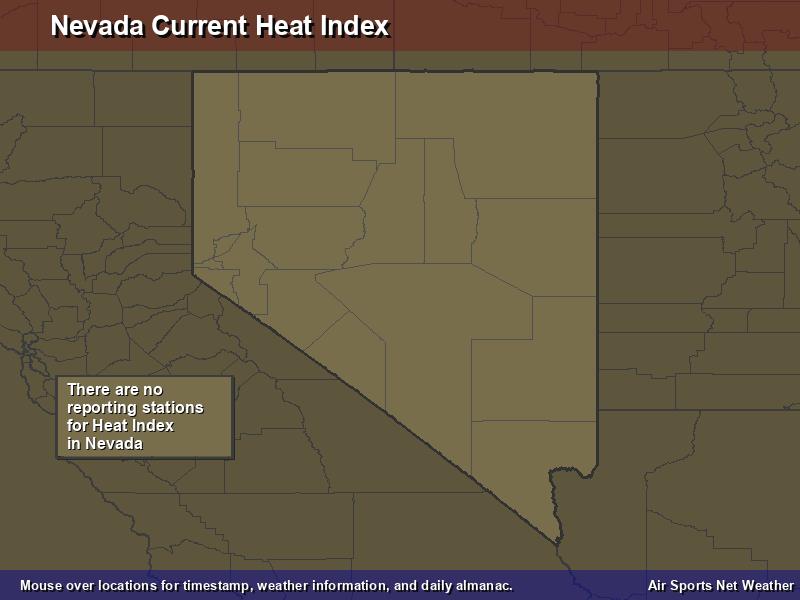 Nevada Heat Index Map