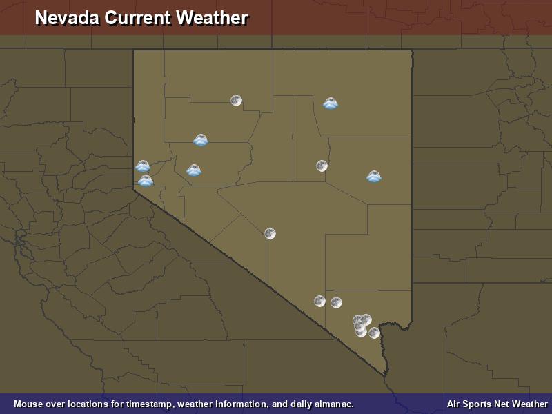 Nevada Weather Map