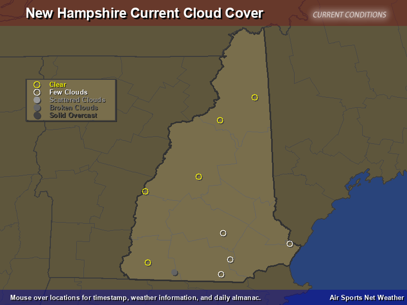 New Hampshire Cloud Cover Map Air Sports Net