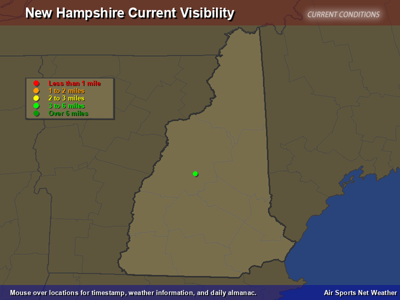 New Hampshire Visibility Map