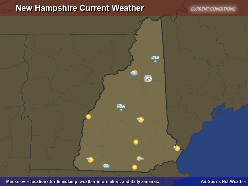 New Hampshire Weather Map