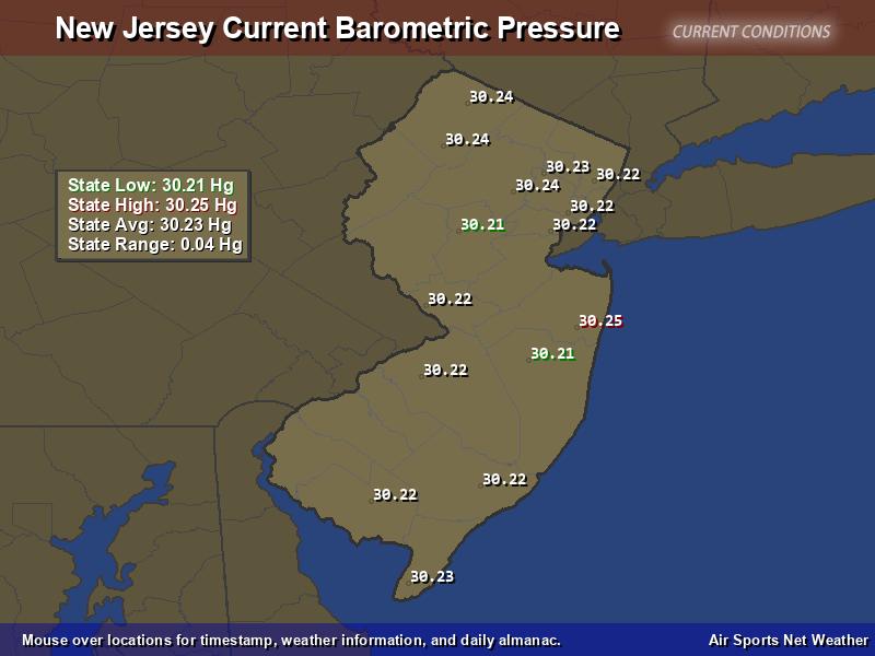 New Jersey Barometric Pressure Map Air Sports Net