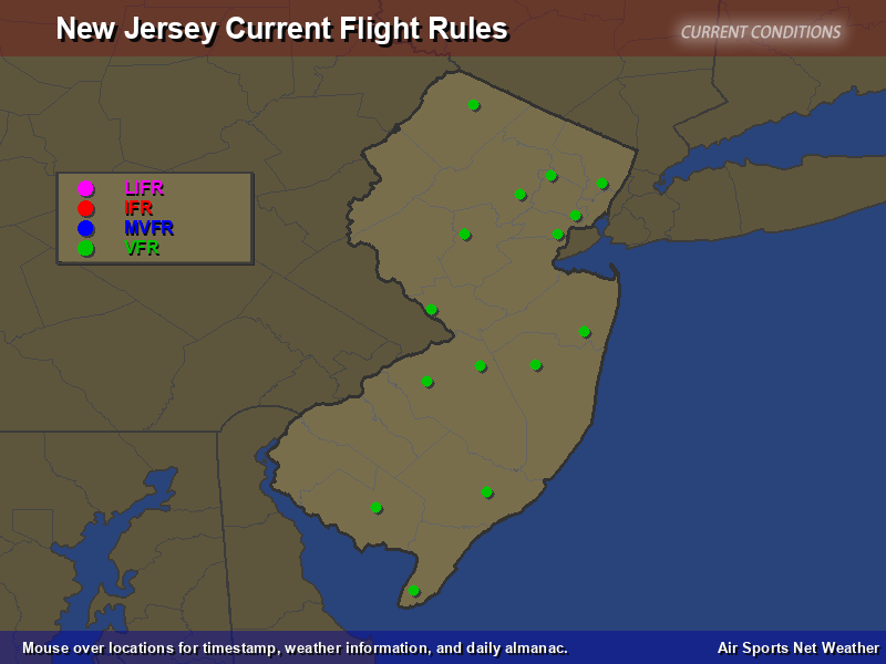 New Jersey Flight Rules Map