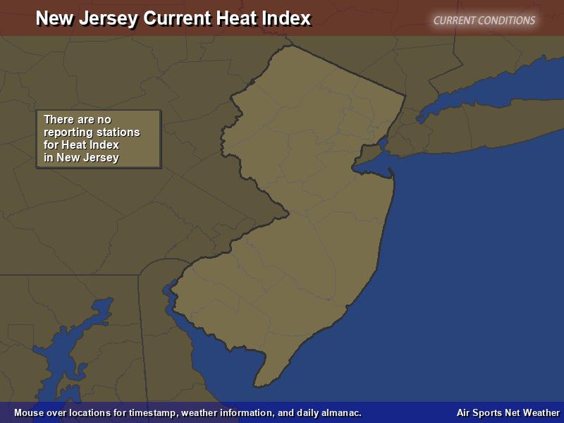 New Jersey Heat Index Map