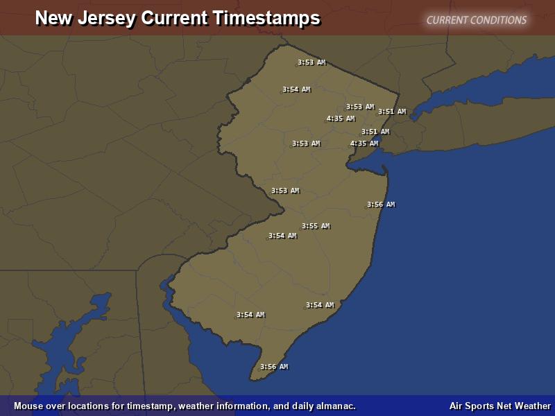 New Jersey Timestamp Map
