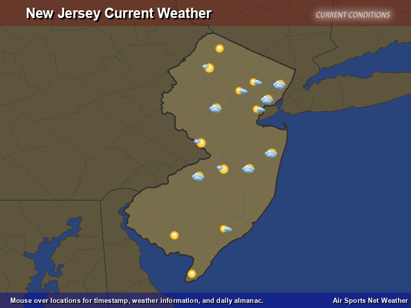New Jersey Weather Map